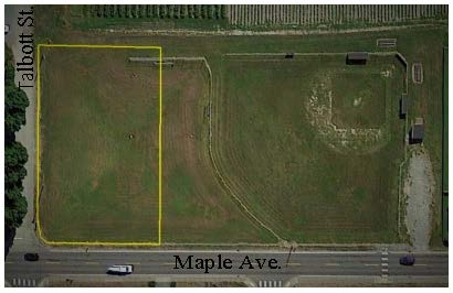 The park on Maple Ave. (referred to here as Maple Park) is 24,000 square feet at the corner of Maple Ave. and Talbott St. (area shown within the yellow rectangle on the map).<br><br>Currently in grass, it is used as a t-ball, soccer and play field and as open space for dog walkers, neighborhood families and visitors.<br><br>There will be a physical barrier between the park and future houses to the south, and a sidewalk along Maple Ave. Any improvements undertaken would likely be funded by grants.<br><br> <ul> <li>Survey brought to you by the Town of La Conner and Parks Commission.</li> <li>A paper copy is in the August water bill. It can also be downloaded at www.townoflaconner.org</li> <li>1 survey per household, please. The survey period will close on October 1st.</li> <li>The survey is being provided to town residents and the larger La Conner community.</li> <li>Public comments and results of the 2019 Parks Survey were used to design this survey.</li> </ul>