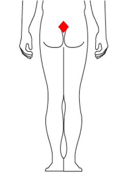 Tail bone rub/cuts