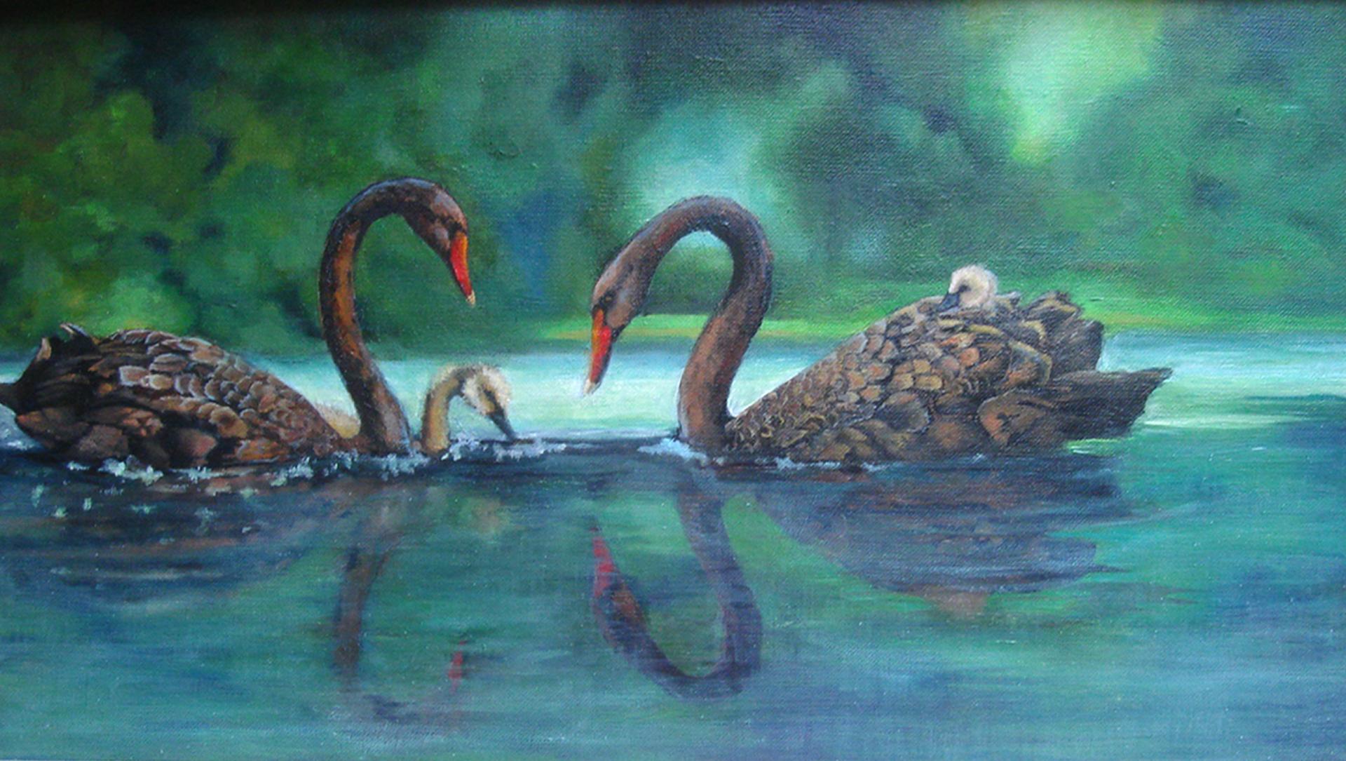 "<br><br>""Swans"" by Deborah B. - 2-D Visual Arts (Adult)"
