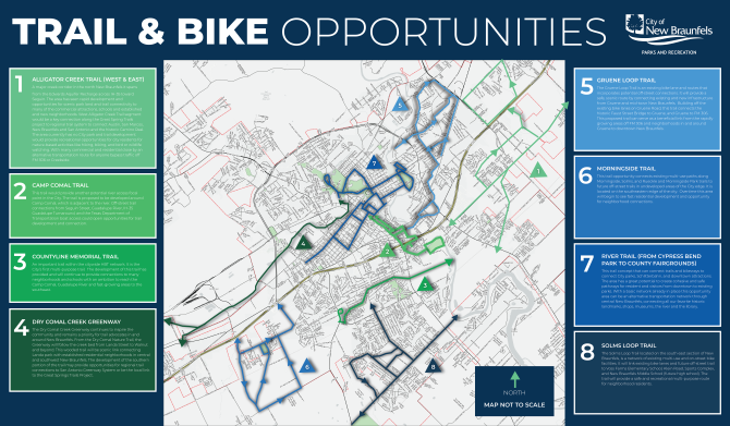 """The City's Hike & Bike Plan identifies """"opportunity areas"""" or area of study, see the map of opportunity areas"""