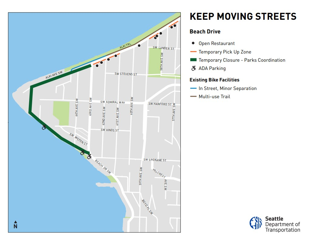 Alki Point Keep Moving Street- Current Project Map