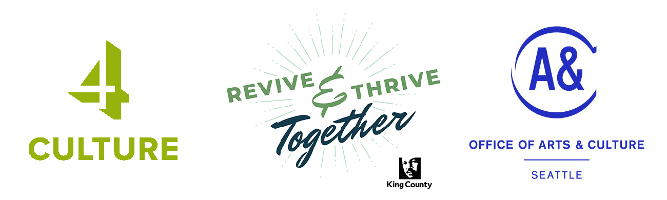 Logos for 4Culture, Revive and Thrive King County