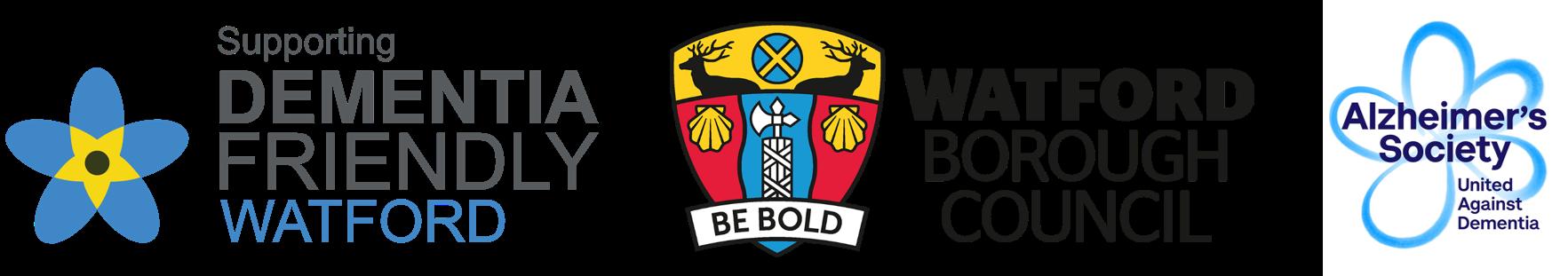 Logos of Dementia Friendly Watford, Watford Boroug