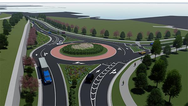 Sassafras Street Extension (Roundabout)