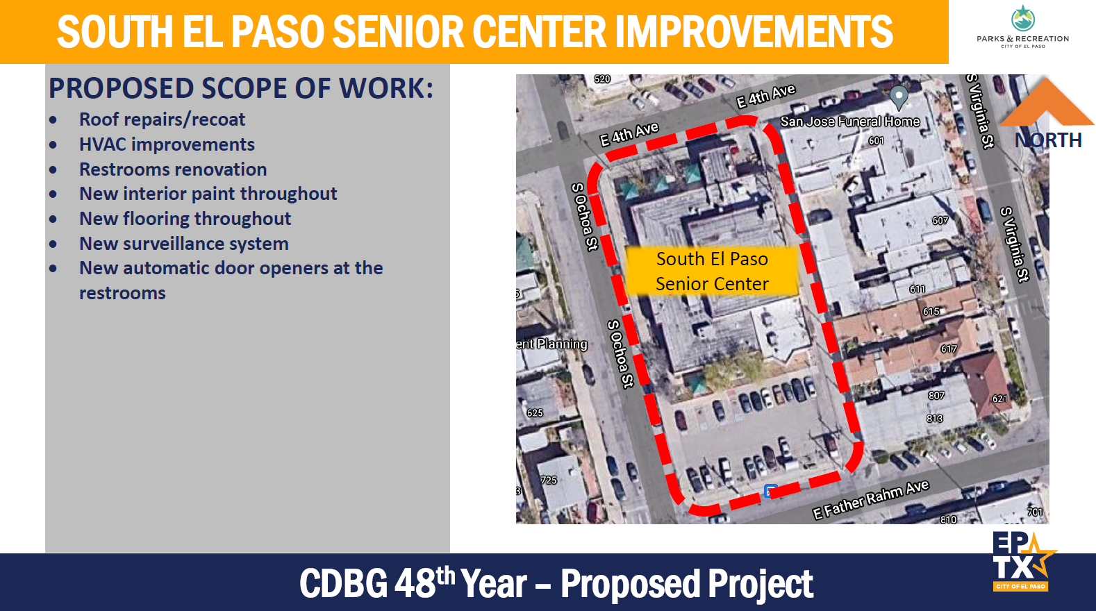 Concept -South El Paso Senior Center Improvements