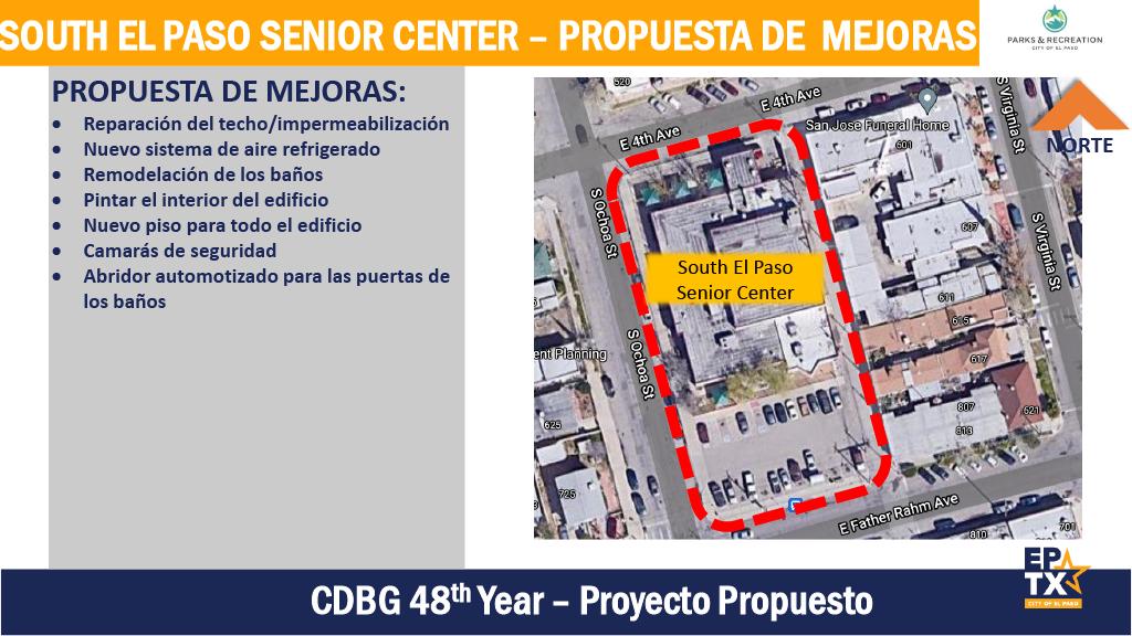 Propuesta de Mejoras: South El Paso Senior Center