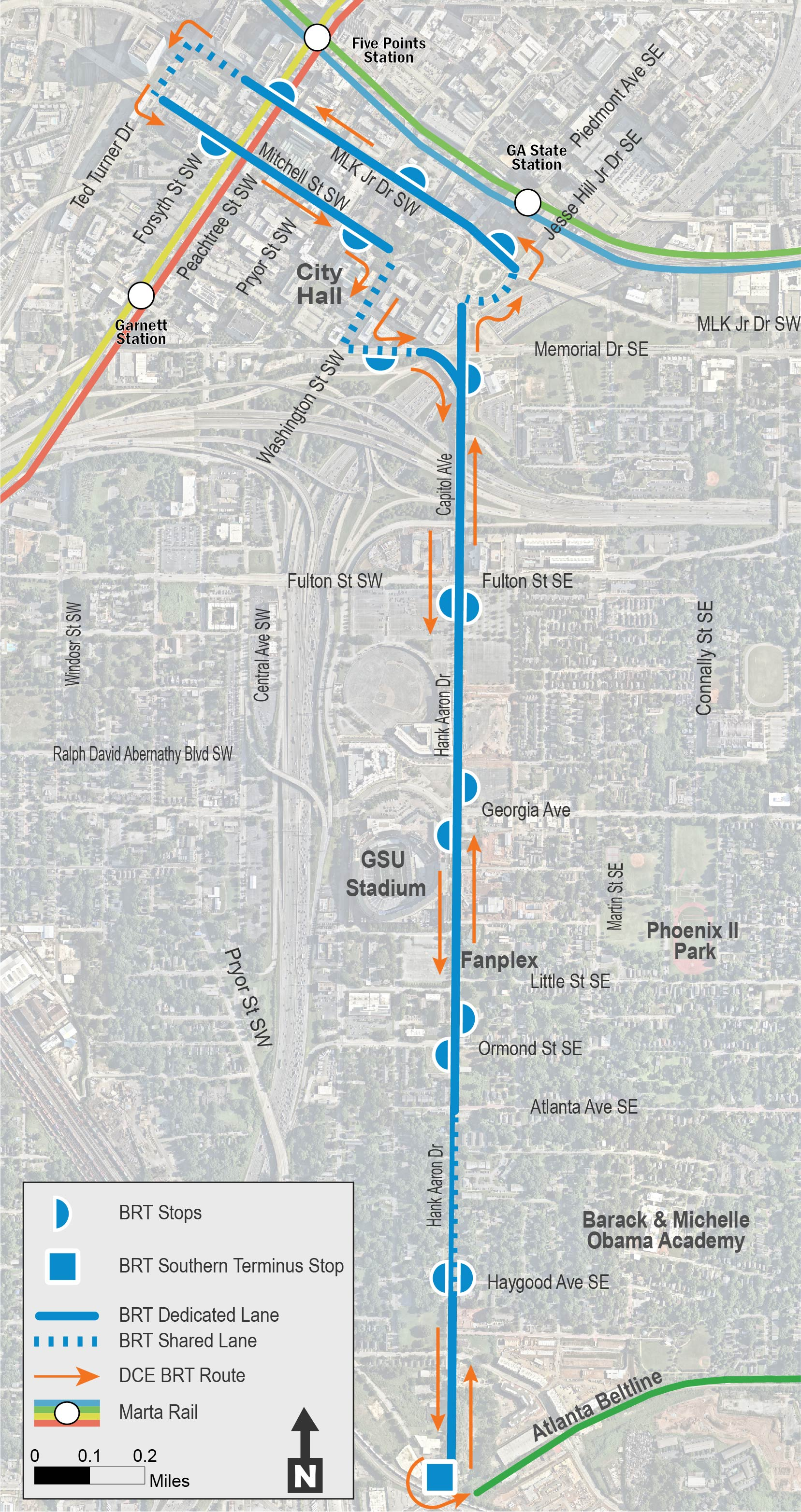 Summerhill BRT Route Map (review the following image and provide comments below)