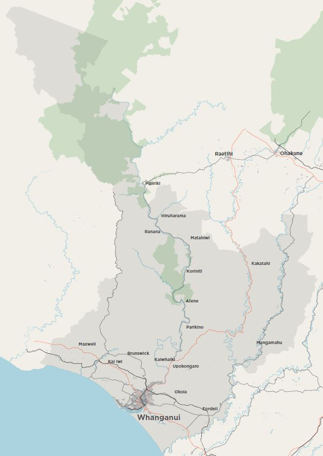 Map of Whanganui District