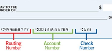 Routing and Account Number Example
