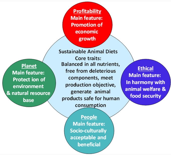Figure 1. Conceptual framework of sustainable animal diets