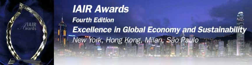 IAIR AWARDS. THE EXCELLENCE IN GLOBAL ECONOMY