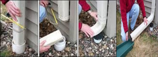 Downspout Disconnection (before and after)
