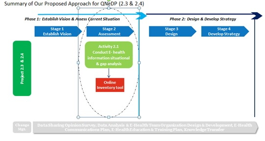 Summary of the Approach for Qatar National E-Health and Data Management Program