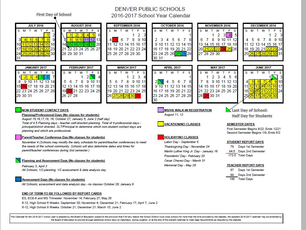 Dps Calendar.Htes 2016 17 School Calendar Parent Feedback Survey
