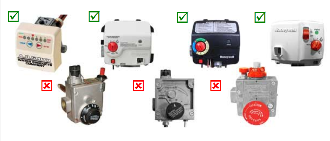 Natural Gas Water Heater Valve Images: