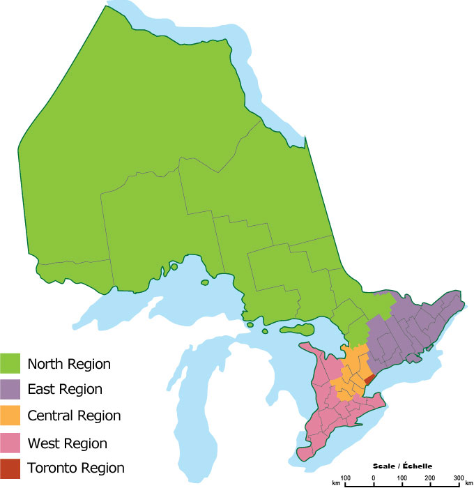 Map of MCYS Regions