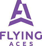 Flying Aces Purple Stacked