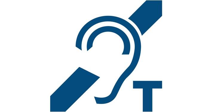 Logo représentant une oreille barrée et accompagné de la lettre T.