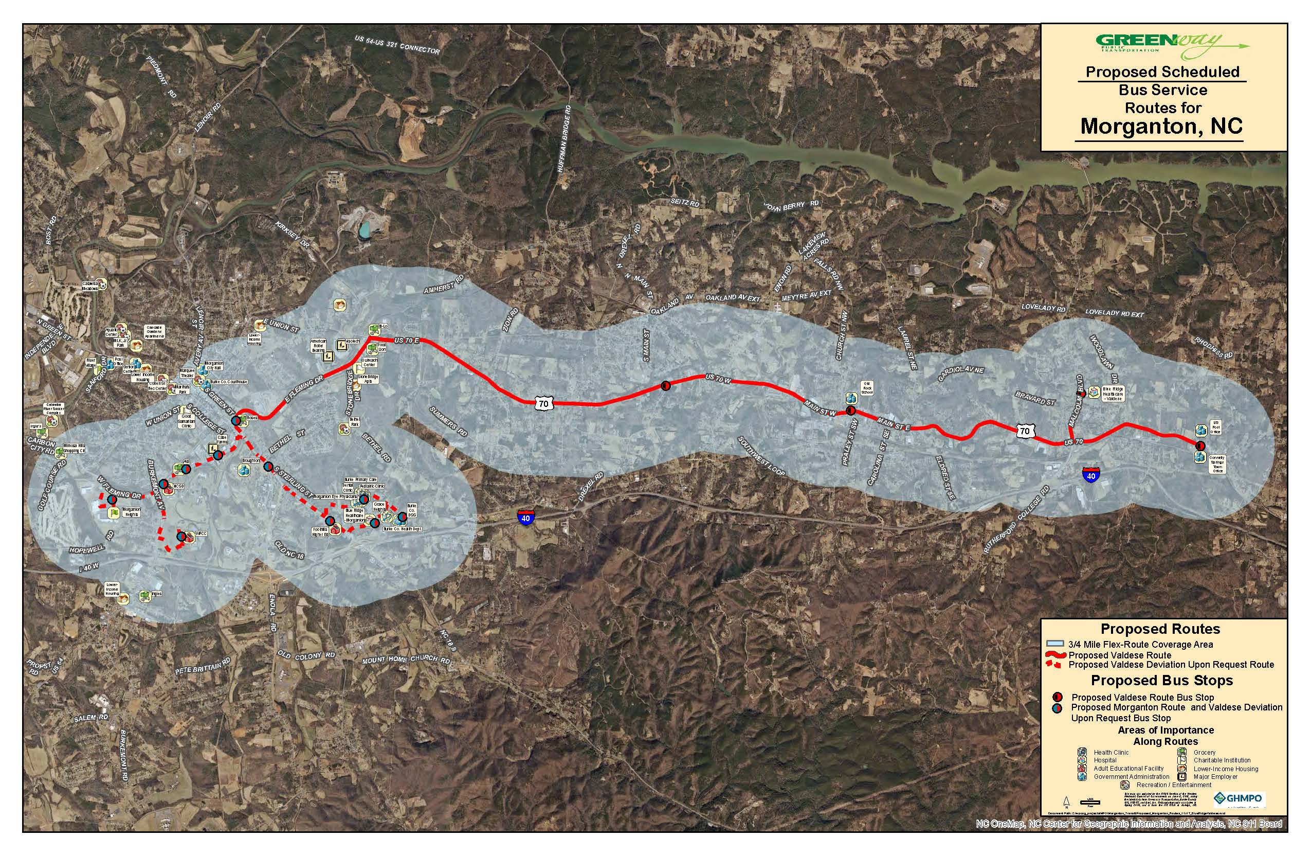 Proposed Route - Valdese/BlueRidge