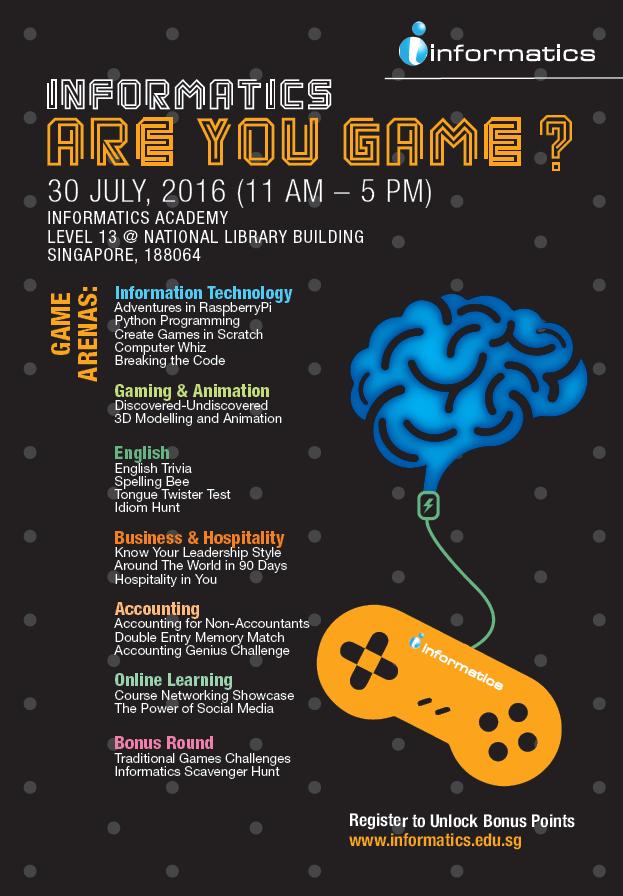 Informatics - Are You Game? Registration Survey