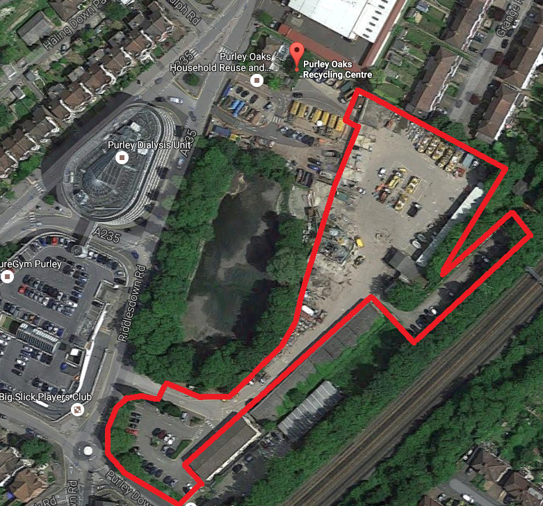 "<span style=""font-size: 8pt;"">The Council's planned traveller site at the Purley Oaks recycling centre</span>"