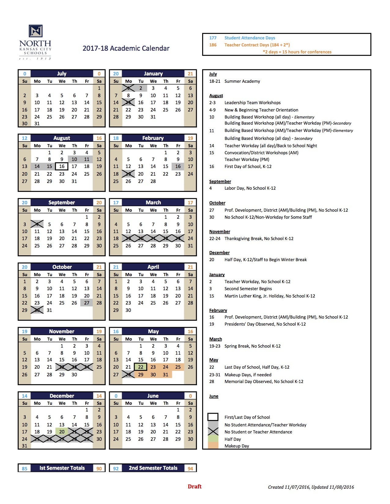 two year calendars