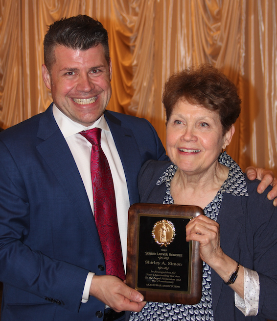 "<div style=""text-align: center;"">James S. Simon and Shirley A. Simon, 2017-2018 Senior Lawyer of the Year</div>"